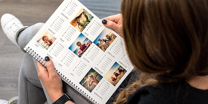 Kalender - almanacka på anteckningsblock