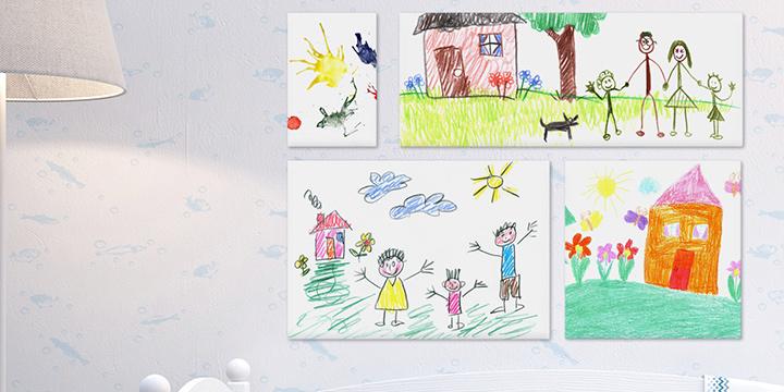 persoonallinen lastenhuone - canvas-galleria