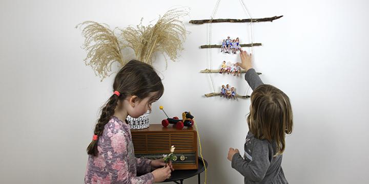 väggmobil med foto - för den lekfulla