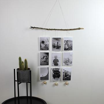 väggmobil - svartvita bilder