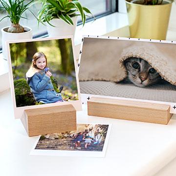Bilder med trähållare