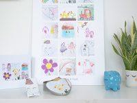 VIDEO DIY – Så tar du bäst tillvara  på barnens teckningar!