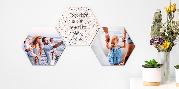 nyheter från Smartphoto - hexagoner
