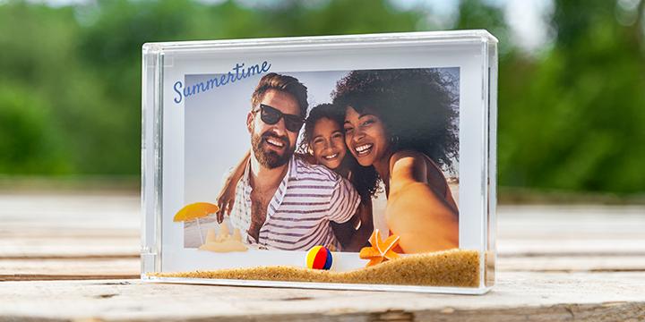 nyheter från Smartphoto - fotoram med sand