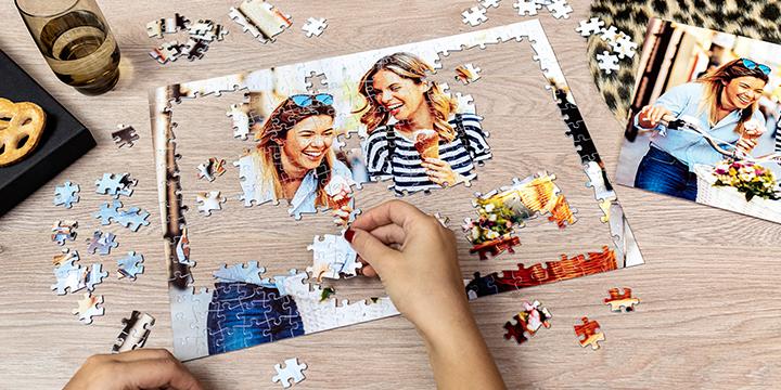 Skapa ditt eget pussel med foto - en kul aktivitet för sportlovet.