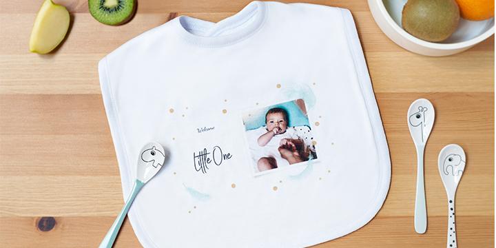 Present till nyfödd - haklapp