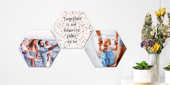 Fotokonst på hexagoner