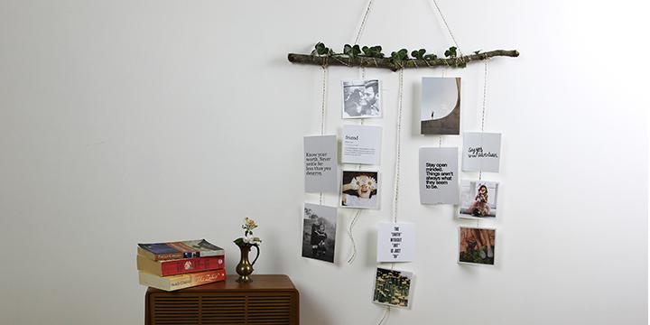Kuvamobile valokuvilla - boheeminen koti