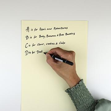 Kirjoita ABC lista