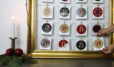 DIY sådan laver du en unik julekalender med dine egne billeder!