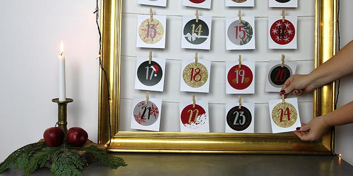julekalender med dine egne billeder!