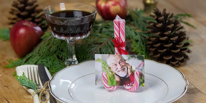 Supersødt bordkort til jul!