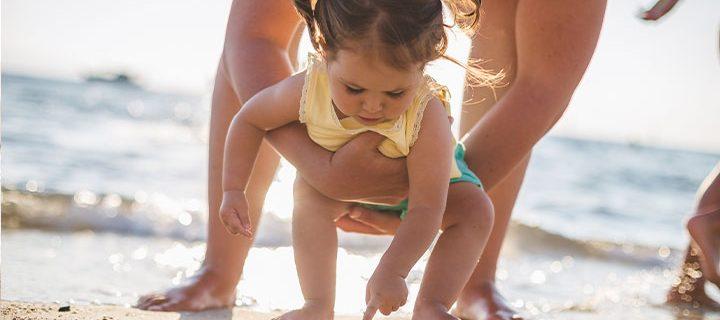 Picnic, strandtur og parkleg med børnene