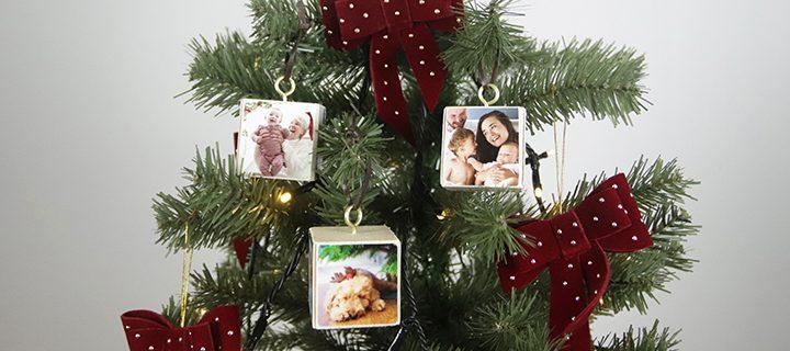VIDEO DIY – Sådan laver du julepynt med foto – et juletræ fyldt med minder 🎄