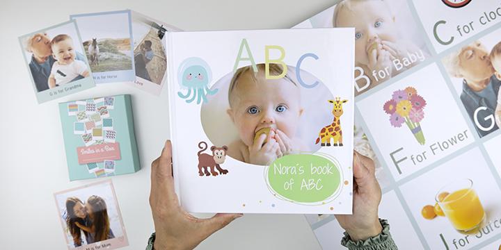 DIY ABC-bog med egne billeder i!