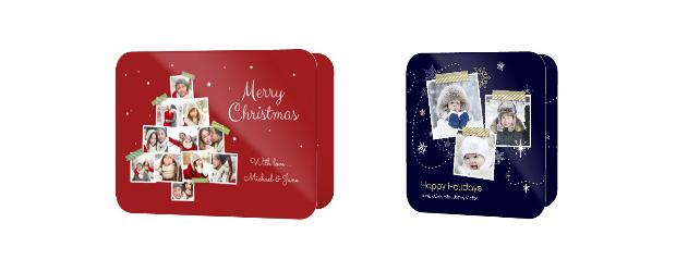 Rundeck-Grusskarte Weihnachten