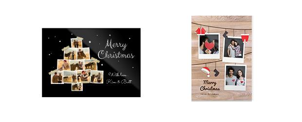 Einfache Weihnachtsgrusskarte