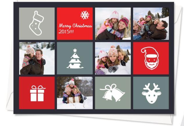 Weihnachtskarte mit Fotocollage