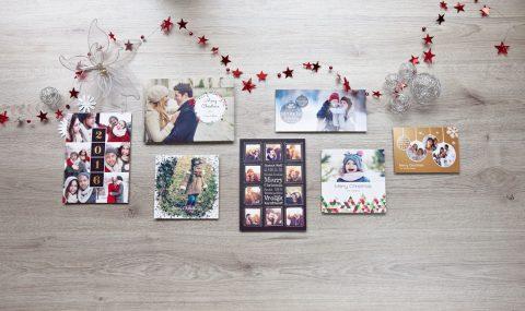 Gestaltung von Weihnachtskarten mit Fotos