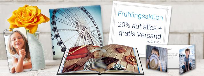 Frühlingsaktion: 20% auf alles + gratis Versand