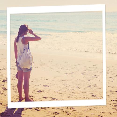 Ferienfoto am Strand