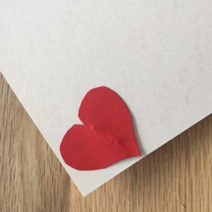 Valentinstagskarte mit Herz
