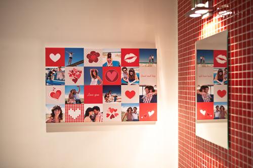 Fotocollage im Liebesdesign als Valentinsgeschenk