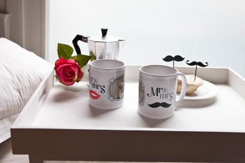 Tasse mit eigenem Foto zu Valentinstag schenken