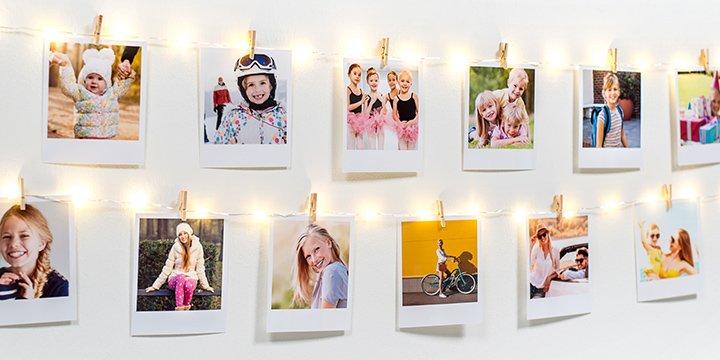 Fotogirlande mit Lichtern