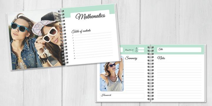 Personalisiertes Notizbuch mit Foto