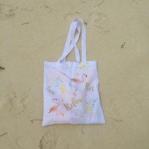 Einkaufstasche personalisiert Flamingo