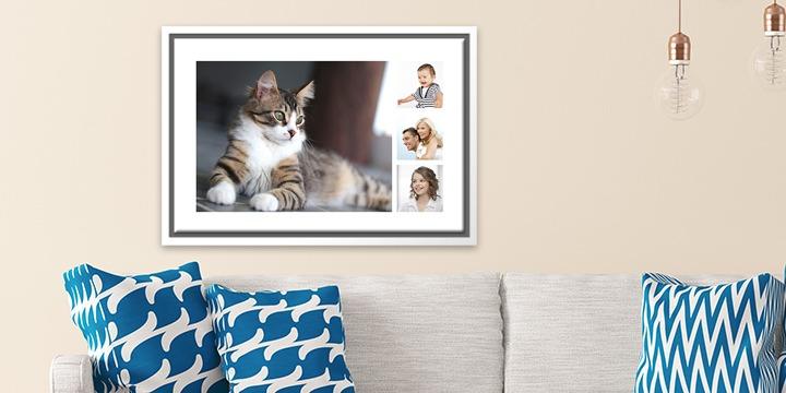 Fotoleinwand Katze und Familie