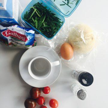 Zutaten für Tassen-Quiche