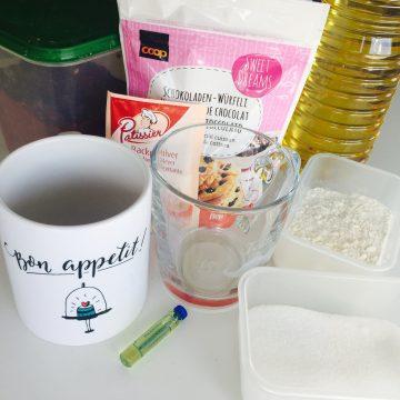 Zutaten Schoko-Mug-Cake