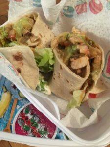 Lunchbox mit Wrap