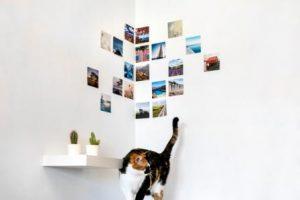 Ecke dekoriert mit Fotos