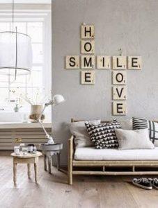 Lieblingswörter an die Wand basteln