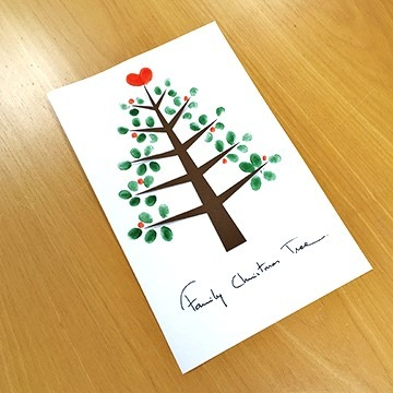 Familienbaum aus Fingerabdrücken