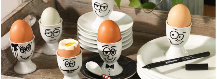 Selbstbemalte Eierbecher