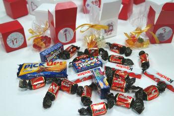 Schokolade für Adventskalender