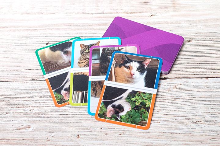Dominokarten personalisiert mit Fotos