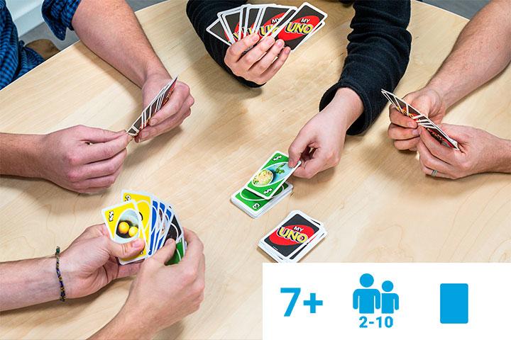 Personalisiertes MyUNO Kartenspiel mit Icons