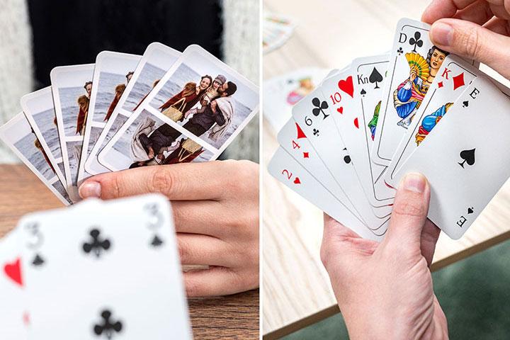 Personalisierte Jasskarten mit Fotos