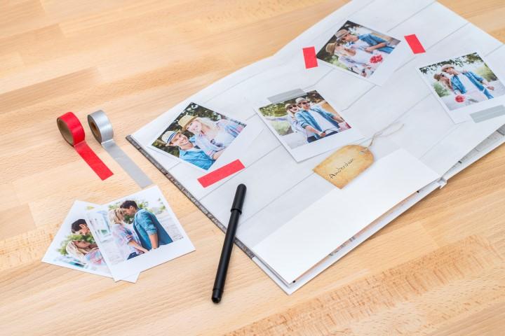 Reisetagebuch mit Fotoabzügen