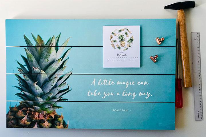 Kalender auf Holzlatten selber kreieren