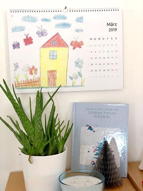 Kalender personalisiert mit Zeichnungen