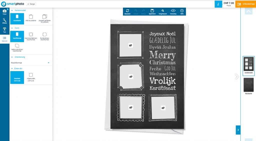 Persönliche Weihnachtskarte gestalten
