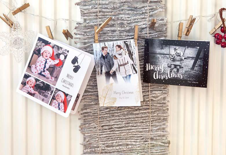 Falt-Weihnachtskarten mit Foto