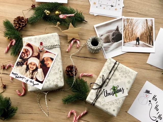 Geschenkanhänger mit Foto und Weihnachtsgruss