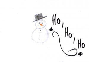 Schneemann eingescannt